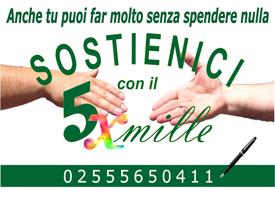 IL TUO 5 x MILLE PER IL FONDO DI SOLIDARIETA' SOCIALE DI ART32 ONLUS